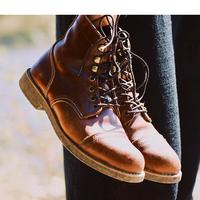 8111red机车靴vintage复古短靴女靴wing牛皮马丁靴咔叽工装靴男鞋