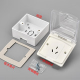 Water-resistant socket clear box bathroom water heater 16A three-hole anti-splash box clear line clear socket waterproof box