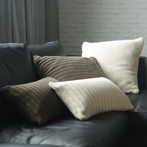 M.A休闲纯棉针织靠垫/沙发靠枕榻榻米腰枕/高端纯色抱枕靠背软包