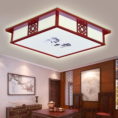 吸顶灯罩客厅灯长方形实木家灯具餐厅厅厨卫卧室走廊吸顶灯家用品牌巨惠