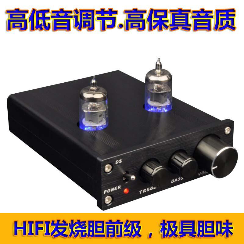 桌面发烧6J1电子管胆前级功放音响HIFI前置音调放大器高低音调节