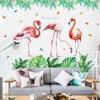 网红火烈鸟3d立体海报纸墙贴画卧室布置装饰北欧ins贴纸壁纸自粘