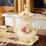 English afternoon tea coffee cup teapot set of packages wedding gifts European ceramic tea set with tray
