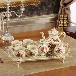 欧式咖啡具套装高档陶瓷咖啡杯带托盘结婚礼物英式下午茶茶具套装