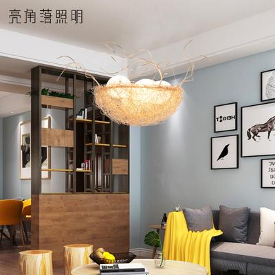 现代简约led鸟巢灯个性创意卧室客厅餐厅儿童房北欧铝线鸟窝吊灯