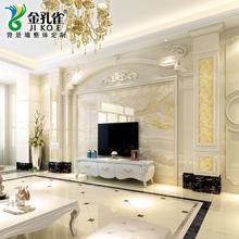 套餐大理石电视背景墙瓷砖欧式客厅简欧石材罗马柱装饰边框微晶石