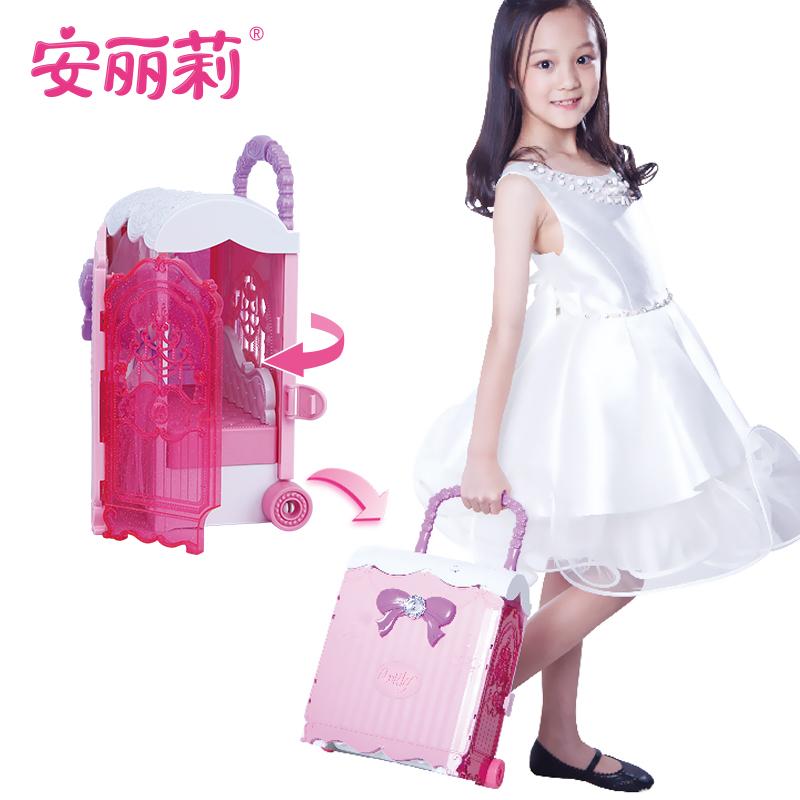 安丽莉芭比娃娃套装过家家女孩公主大礼盒超大玩具拉杆箱梦幻衣橱