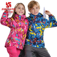 Sporland children's outdoor jacket three-in-one detachable boys and girls plus velvet children's big boy two-piece
