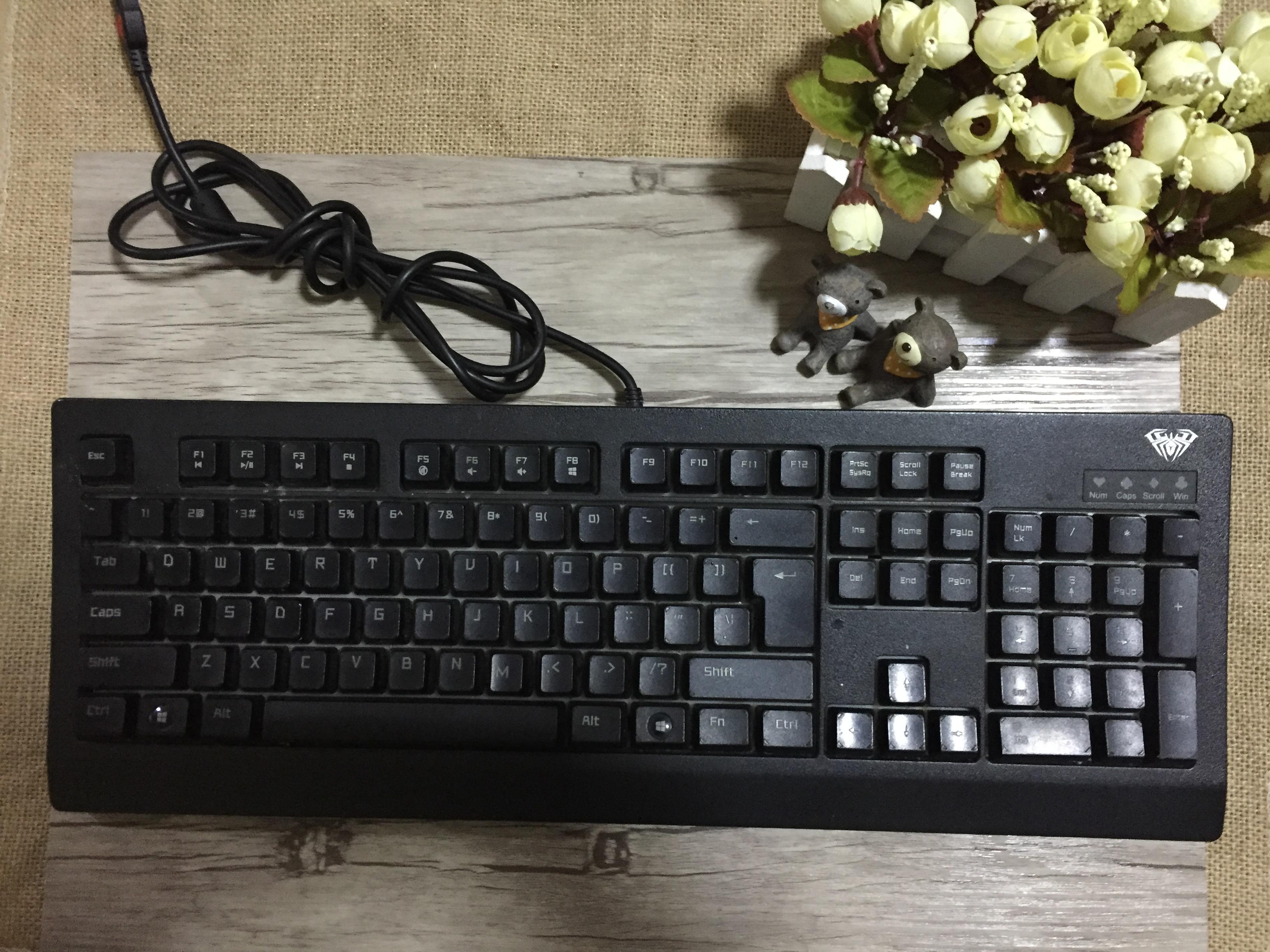 aula狼蛛機械鍵盤
