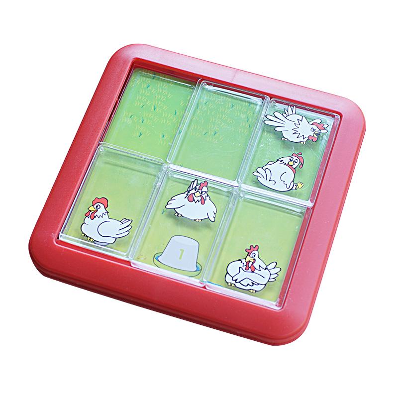 小乖蛋 母鸡找蛋  滑动拼图 华容道逻辑思维训练游戏儿童益智玩具