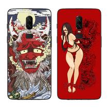 3保护套包边软壳3T5手机壳15t日系风浮世绘般若艺术插画一加6
