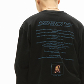 WHOOSIS 2018AW Baby L/S T-SHIRT 数码印花重磅圆领宽松长袖