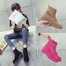 复古马丁靴女英伦风2018夏季新款韩版粉色女靴子百搭单靴春款短靴