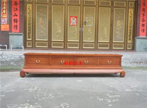 缅甸花梨(大果紫檀)素面电视柜 红木影视柜 越南红木实木家具