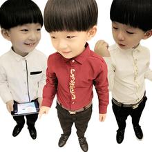 童装6秋冬新款2儿童衬衫3男童长袖纯棉加绒衬衣4白色7宝宝上衣8岁