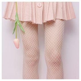 玛丽莲露萌独家定制今年特别火的纯色Sexy渔网袜白色网眼袜镂空袜