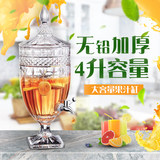 Hengfeng with faucet juice Ding crystal glass ginseng medicinal liquor jar European and American hotel buffet drink machine