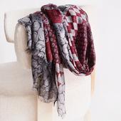 百变围巾披肩多功能羊毛印花围巾 凯米尔酷围脖女秋冬保暖韩版图片