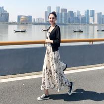 连衣裙2019新款夏女超仙法国小众流行裙子两件套长款雪纺吊带长裙