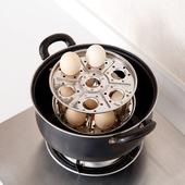 厨房蒸蛋架家用隔水蒸菜架子 不锈钢蒸锅高脚支架蒸架蒸饭隔热架