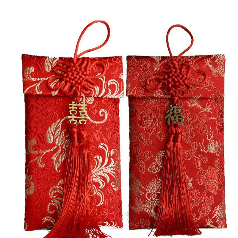 结婚锦缎红包