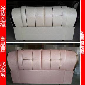 皮质软包靠背双人床头板烤漆欧式简约单人板式床1.5米包邮