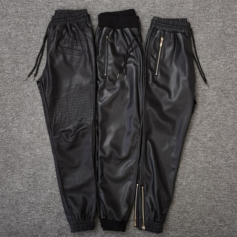 Кожаные брюки Артикул 561885101190