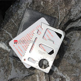 Outdoor thickening camping tool multi-function universal life saving card knife Swiss army knife card leather case