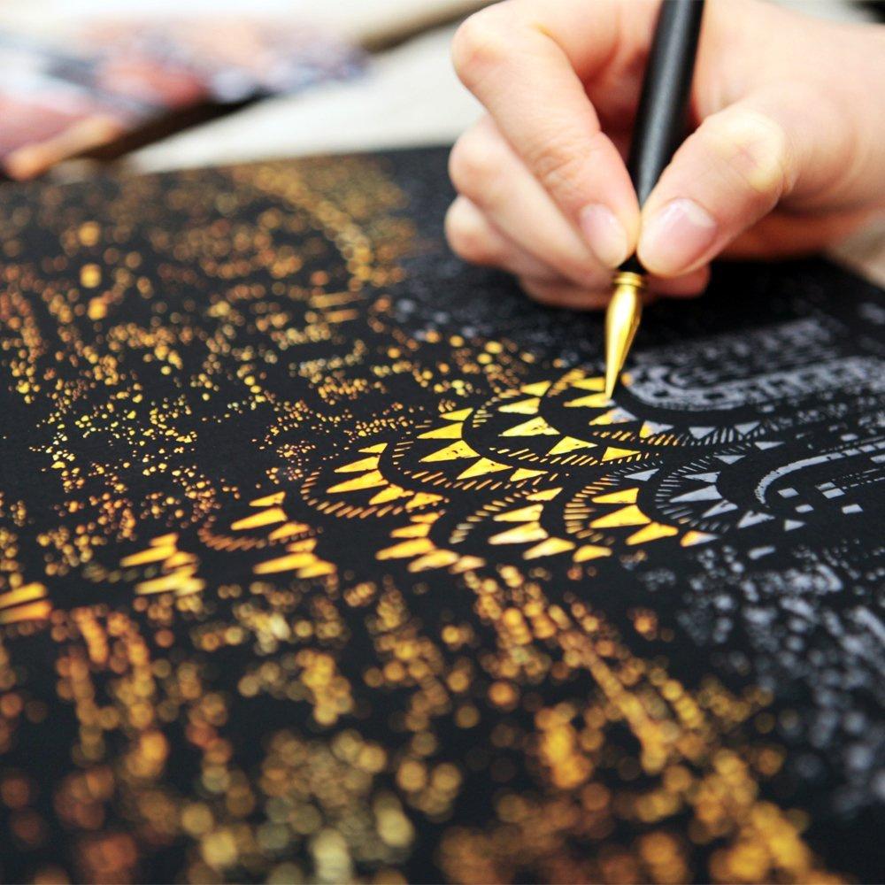 韩国scratch night view城市夜景刮画成人手刮画创意diy手工礼物