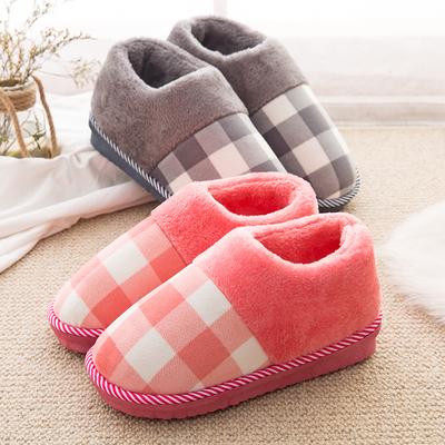 包跟棉拖鞋女厚底冬季居家居情侣保暖防滑毛毛室内保暖月子拖鞋男