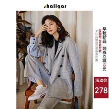 秋季英伦风小香风洋气西服两件套 韩版 套装 休闲时尚 女2019新款 西装