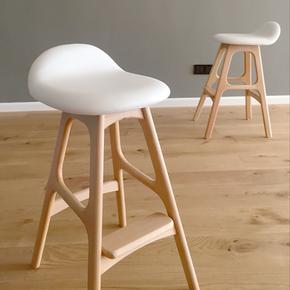 北欧风吧台椅高脚实木简约现代时尚桌椅创意高凳子吧台凳家用椅子