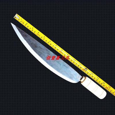 手工锻打屠宰刀剔骨刀弹簧钢卖猪肉牛肉刀割肉杀猪刀杀羊切片刀具