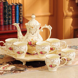 Water Cup Tea Set Household European Living Room Ceramic Water Set Tea Cup Teapot Set Luxury with Tray