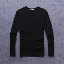 花花公子秋季男士长袖T恤新款V领青年打底衫韩版修身印花秋衣男装