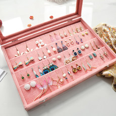 Jewelry storage box female simple European earrings earrings earrings hairpin ear clip necklace jewelry collection box finishing