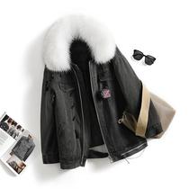【反季清仓】柏系列●品牌折扣女装大毛领羽绒服牛仔娇小女人外套