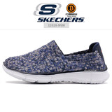 SKECHERS 12028 women's shoes summer ultra light comfortable walking soles elastic woven upper a pedal simple overshoes