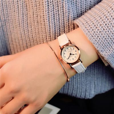 手表女潮学生白色