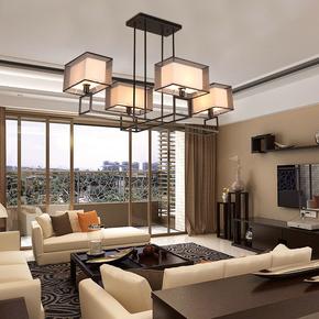 现代新中式吊灯简约客厅灯卧室大气家用餐厅饭店茶楼吸顶灯具
