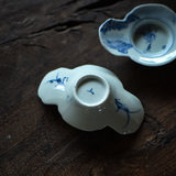 Jingdezhen hand-painted old blue and white tea tray porcelain cup holder antique mud coaster