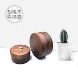 Seven-night gift wood high-end custom black walnut simple jewelry box solid wood earrings ring box jewelry box