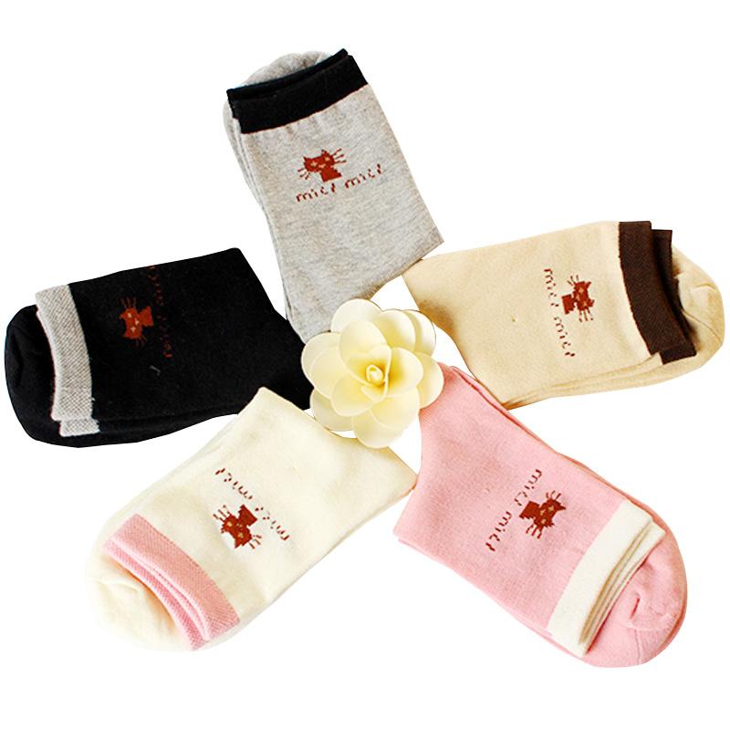 袜子女士加厚保暖棉袜中筒袜冬季卡通棉袜透气防滑吸汗防臭运动袜