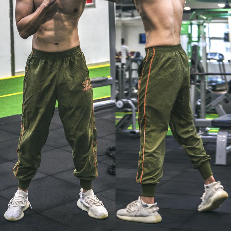肌肉男狗兄弟运动裤长裤跑步训练健身裤速干透气宽松束口小脚裤子