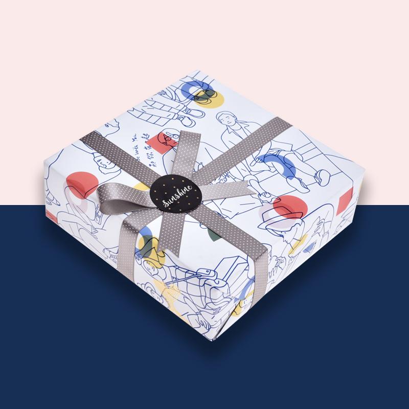 和你在一起独角鲸原创包装纸,适合用来情侣表白礼物用