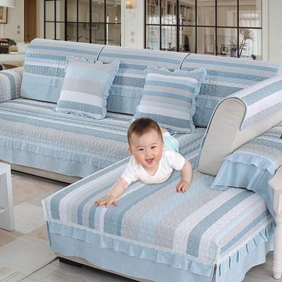 细亚麻布料加厚订做沙发套布艺欧式坐垫床笠罩定制实木沙发套全包专卖店