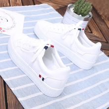 Hong Kong Women's Shoes Tide 2019 Spring Style Thick-soled Small White Shoes