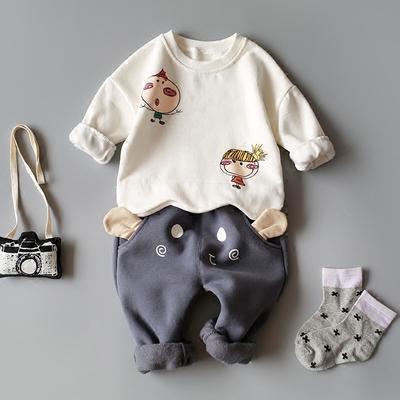 童装秋冬0-1-2-3-4岁半婴儿套装男宝宝春秋婴幼儿秋装加绒男童潮
