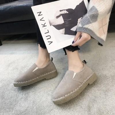 休闲鞋女2018冬季新款外穿鞋子韩版加绒保暖女鞋毛毛软妹面包百搭