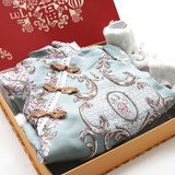 Baby gift box spring and summer full moon gift baby hundred days newborn supplies clothes cotton line Tang suit Chinese style gift